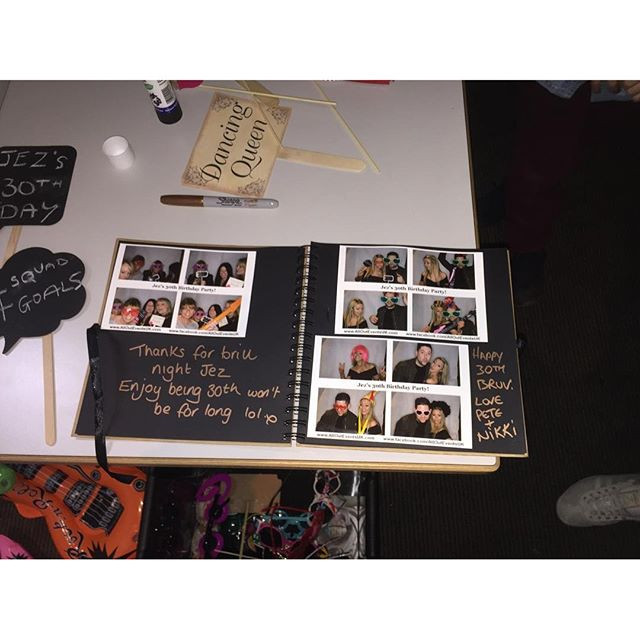 photo booth hire guest book