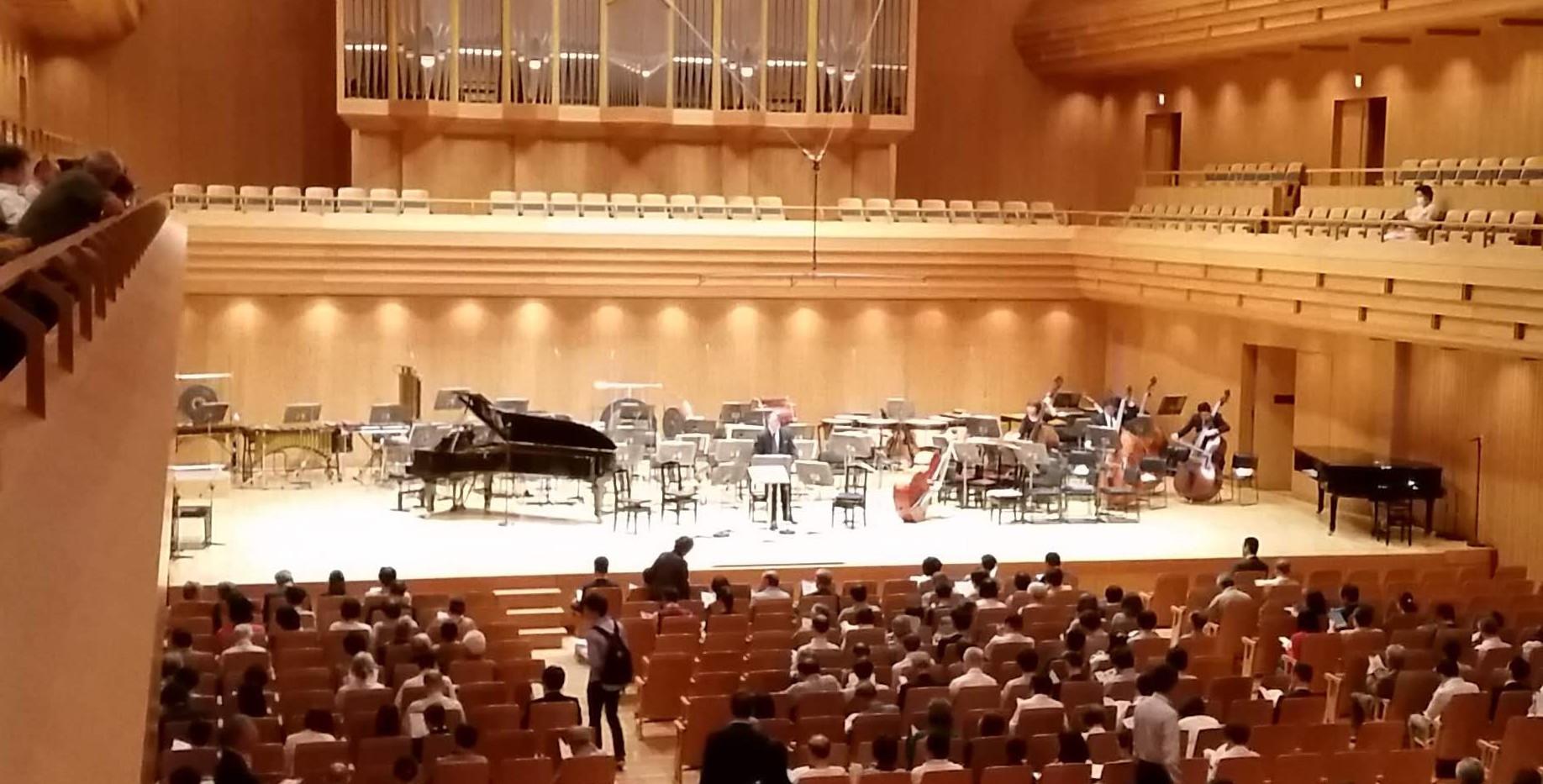 Tokyo Opera City before concert