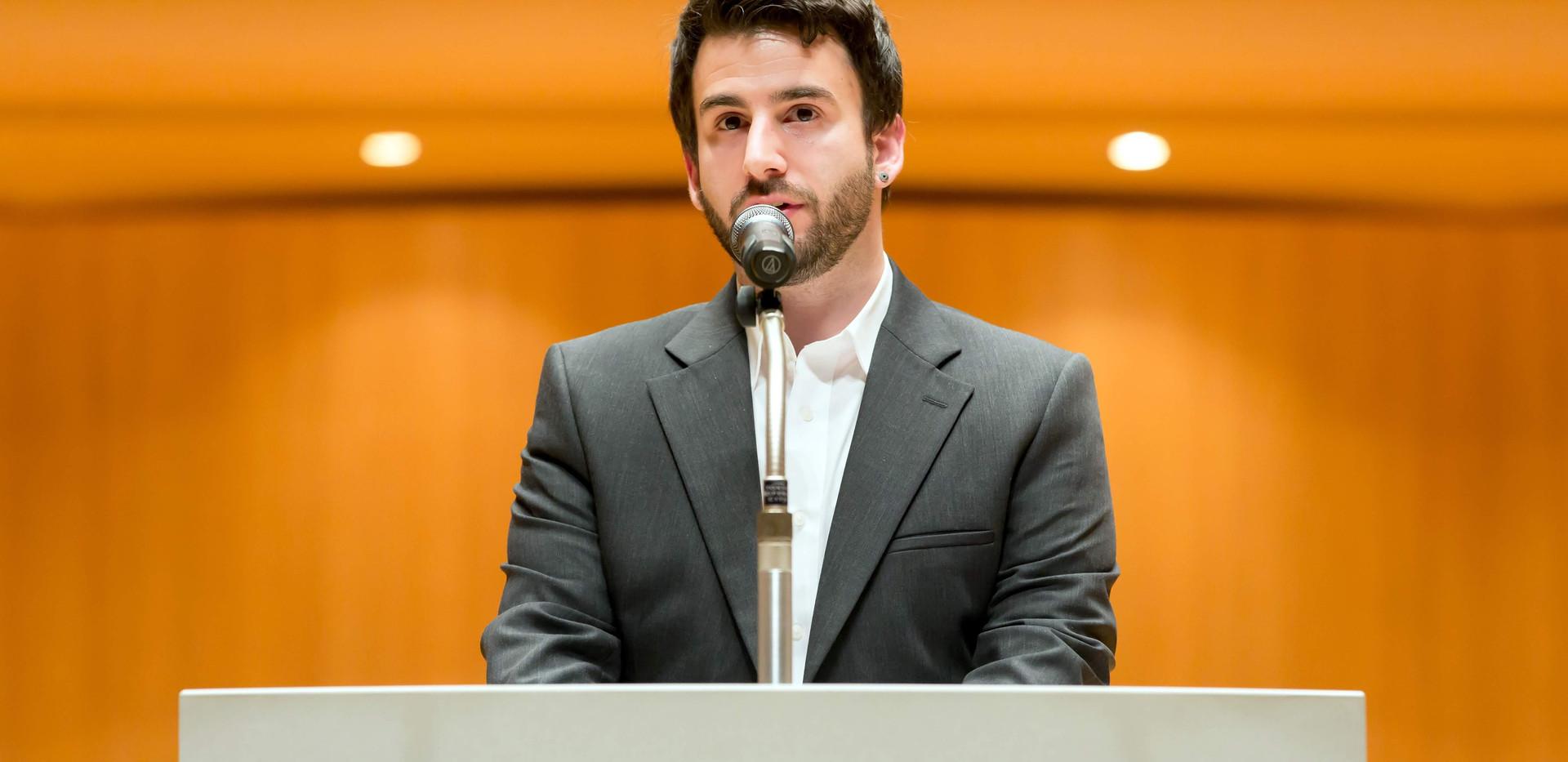 Selterneich - Award Acceptance Speech at Takemitsu Composition Award