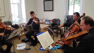 Flux Quartet rehearses Seltenreich's work
