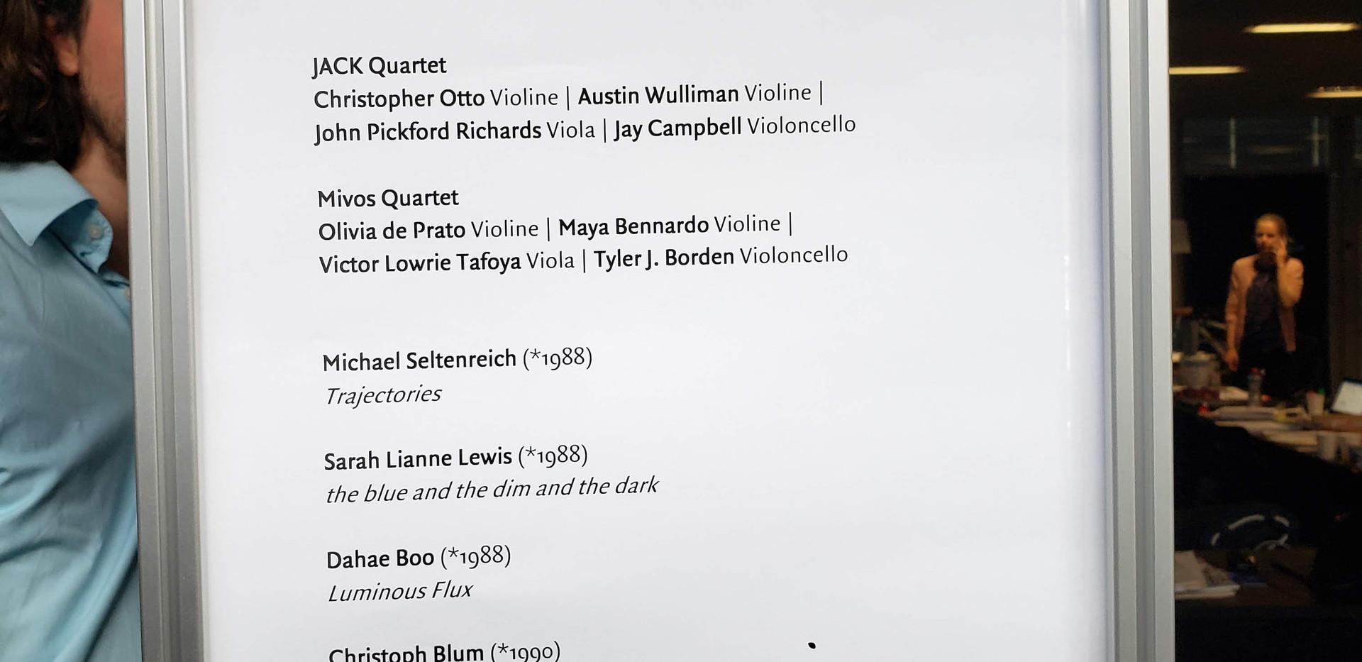 Lucerne Concert Program