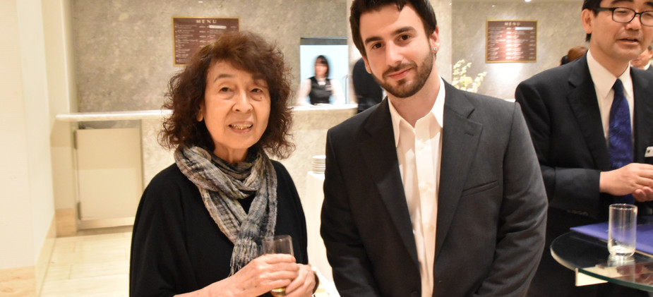 Award winning composer with Toru Takemitsu's widow