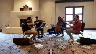 Flux Quartet rehearses Seltenreich's Piece