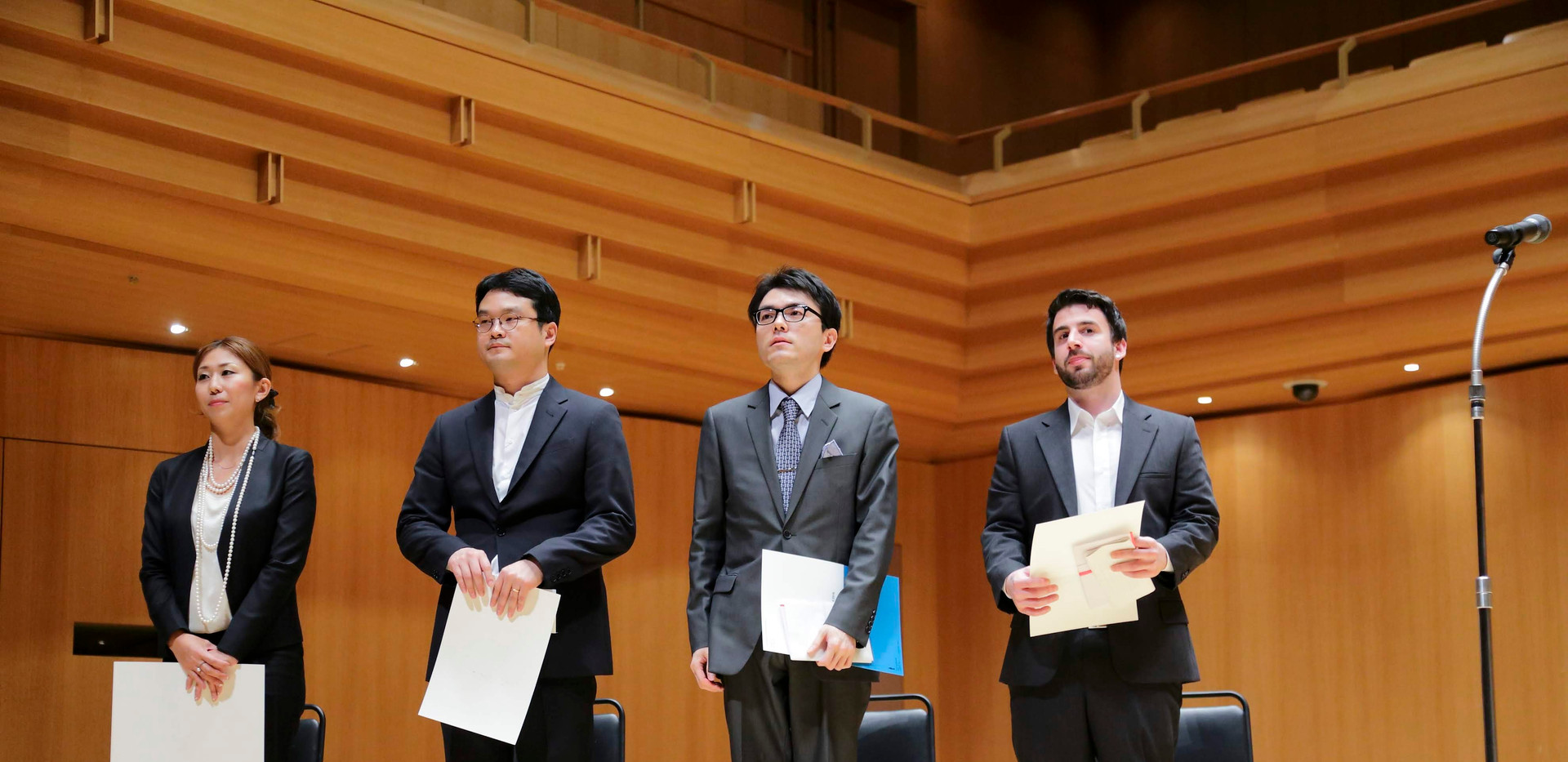 2016 Toru Takemitsu Composition Award Finalists on Stage