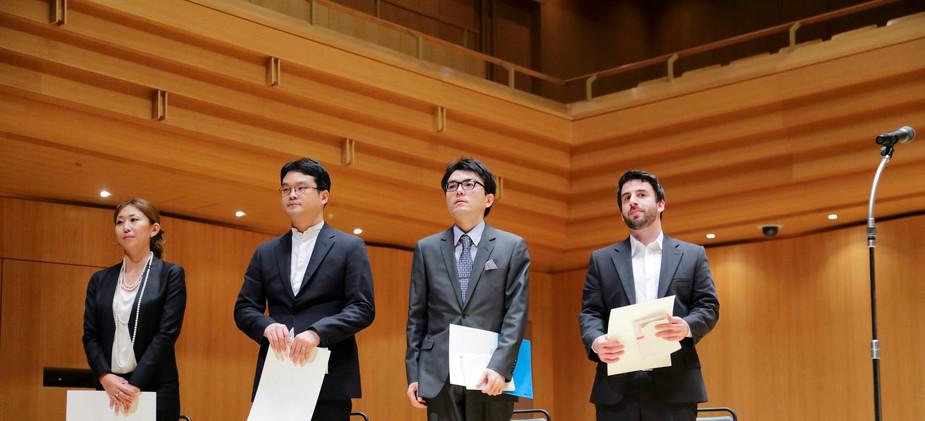 2016 Toru Takemitsu Composition Award Finalists on Stage