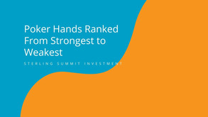 What Beats What? Poker Hands Ranked From Strongest to Weakest