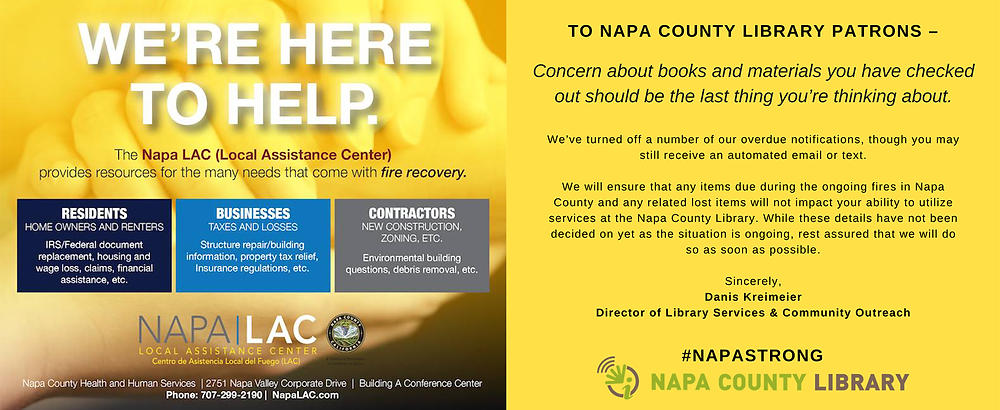 Napa County Library communications