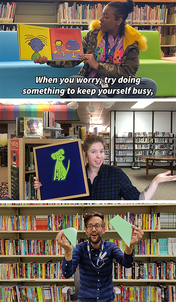 Library staff delivering digital storytimes