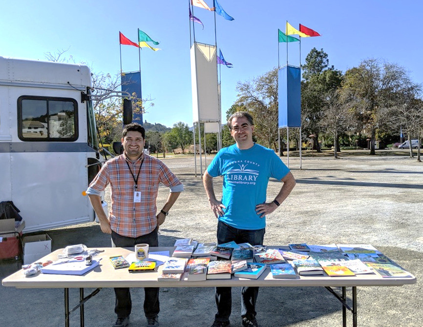 Sonoma County Library staff provide services to evacuate community members