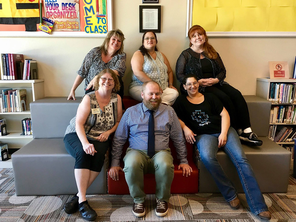 Staff from the Tehama County Library pose for a photo