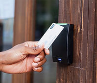 Card Access reader, allows the door to be opened when presented with a card