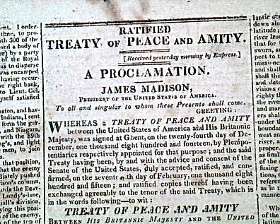 War of 1812 Treaty