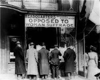 women suffrage opposition