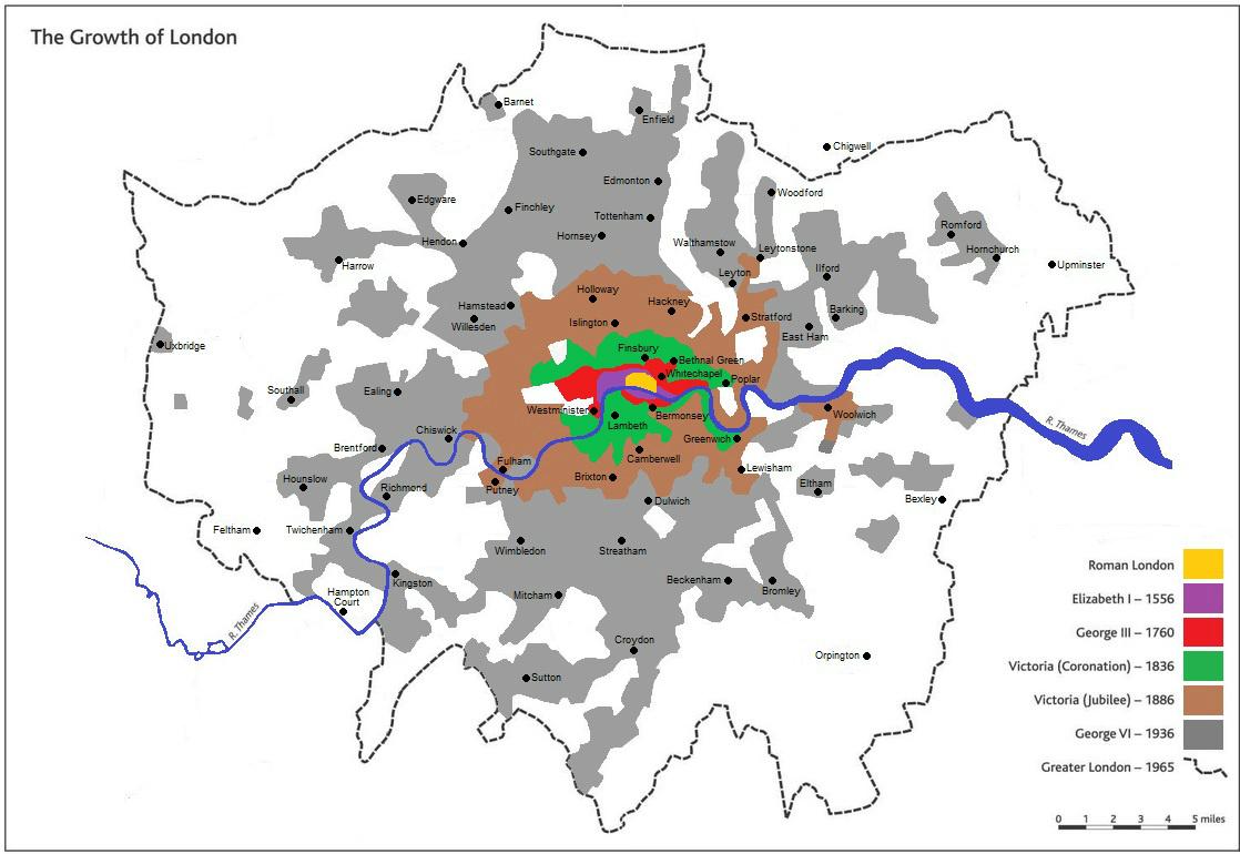 London Size Through Ages
