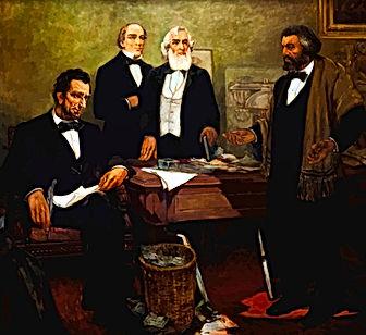 Lincoln meets Frederick Douglass