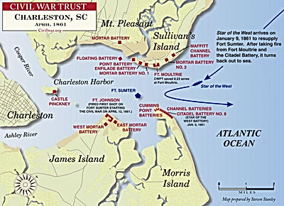 fort sumter map