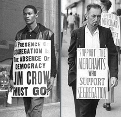 jim crow protest and counter protest