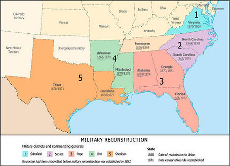 Recnstruction Military Districts