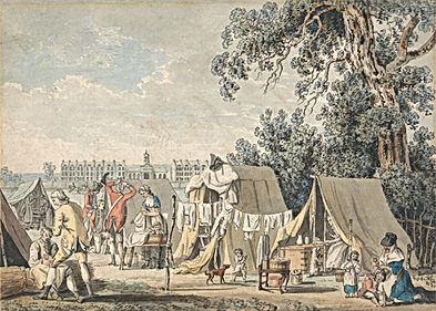 American Revolution soldier camp