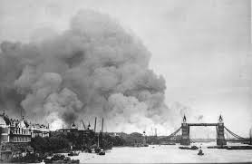 london blitz with Tower Bridge