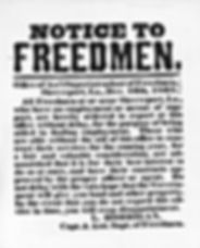 notic to freedmen