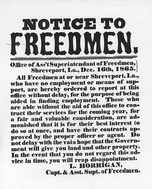 notic to freedmen