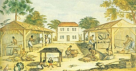 slaves on a tobacco plantation