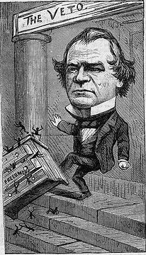 Johnson political cartoon