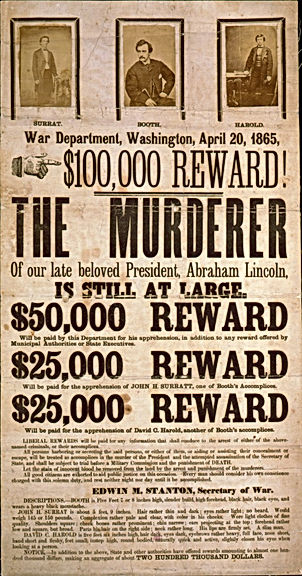 lincoln assassination wanted poster