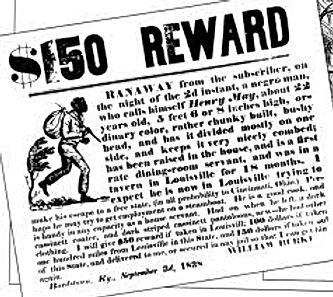 slave runaway reward