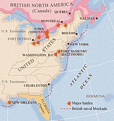 War of 1812 Battles