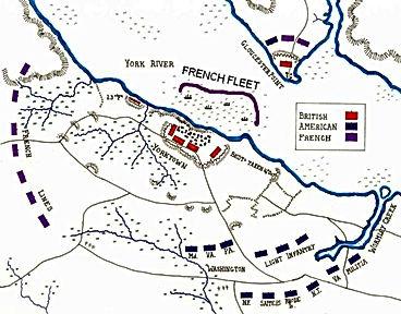 Battle of Yorktown Map