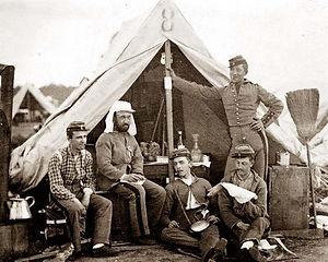confederate soldiers in camp