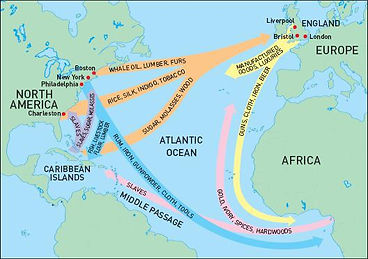 triangle trade map