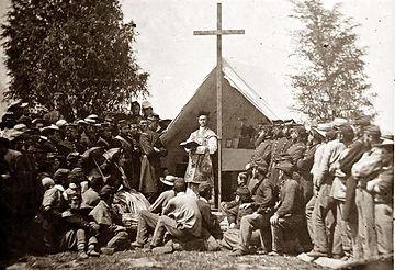 civil war church service