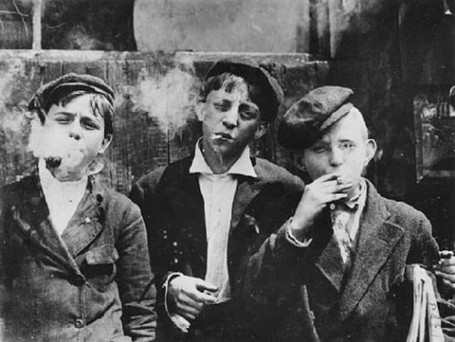 children on a smoke break