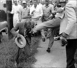 little rock black man being beaten
