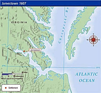 Map of Jamestown 1607