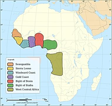 Africa slave regions