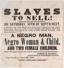 slave auction newspaper advertisement