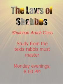 Shulchan Oruch Shiur