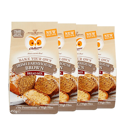 Odlums Quick Bread Farmhouse Brown 450g (4 Pack)
