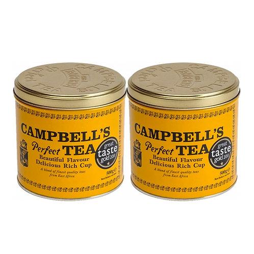 Campbells Perfect Tea (500g Tin) Twin Pack
