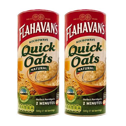 Flahavans Microwaveable Quick Oats 500g (2 Pack)