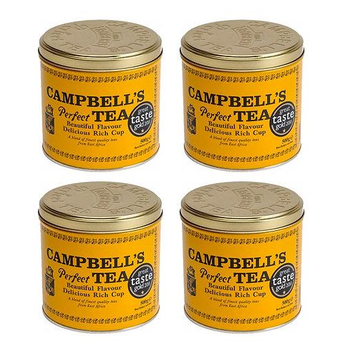 Campbells Perfect Tea (500g Tins) 4 Pack
