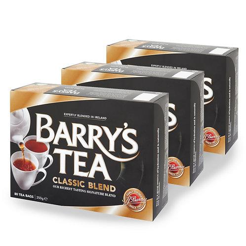 BarrysTea Classic 80 Bags - (3 Packs)