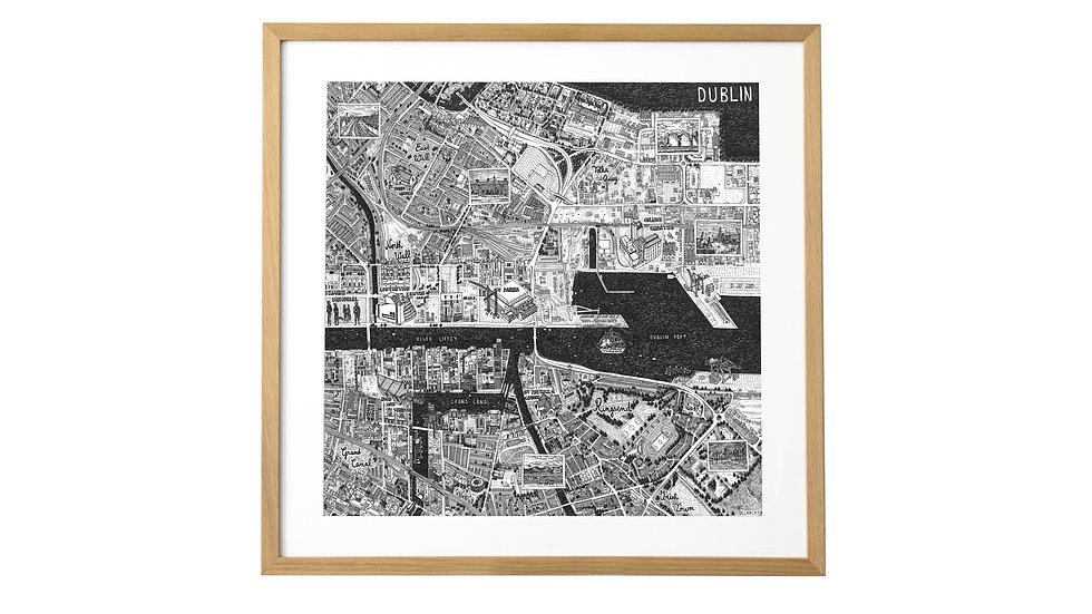 DUBLIN TIRAGE FINE ART FORMAT 50x50cm
