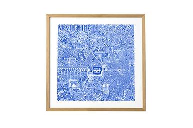 Découvrez ou redécouvrez Montpellier autrement. Parcourez ses ruelles, places et jardins en plongeant dans cette carte fourmillant de détails. L'opéra, la tour de la Babotte, l'arc de Triomphe, le jardin des plantes, la promenade du Peyrou et d'autres.      Sérigraphie artisanale réalisée en atelier sur papier Arches 88 300g, un papier 100% coton au toucher satiné révélant tous les détails du dessin.     Disponible en noir ou en bleu indigo au format 50x50cm.     Cette carte de Montpellier grand format a été réalisée au Rotring et à l'encre. Elle représente environ 300 heures de travail étalées sur plusieurs mois. Pour continuer dans cette démarche de travail entièrement à la main, les impressions sont produites grâce à la technique artisanale de sérigraphie dans un atelier local.