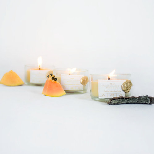 Set Mini velas de Musk  Papaya & Melón
