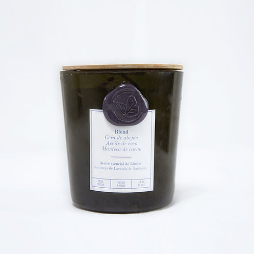 Limón Lavanda & Gardenia - CHAMPAGNE - Pabilo de madera